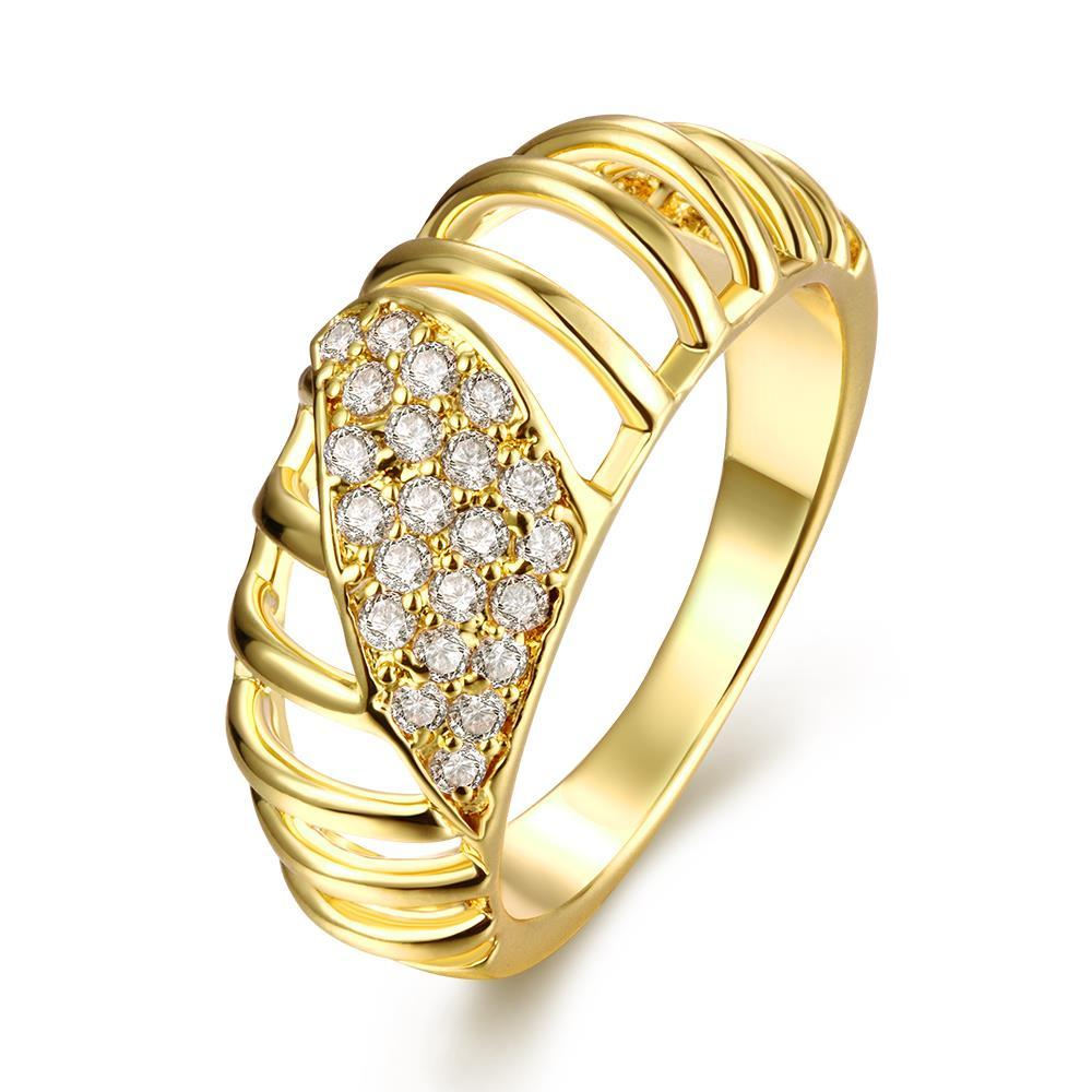 Vienna Jewelry Gold Plated Laser Cut Jewels Ring