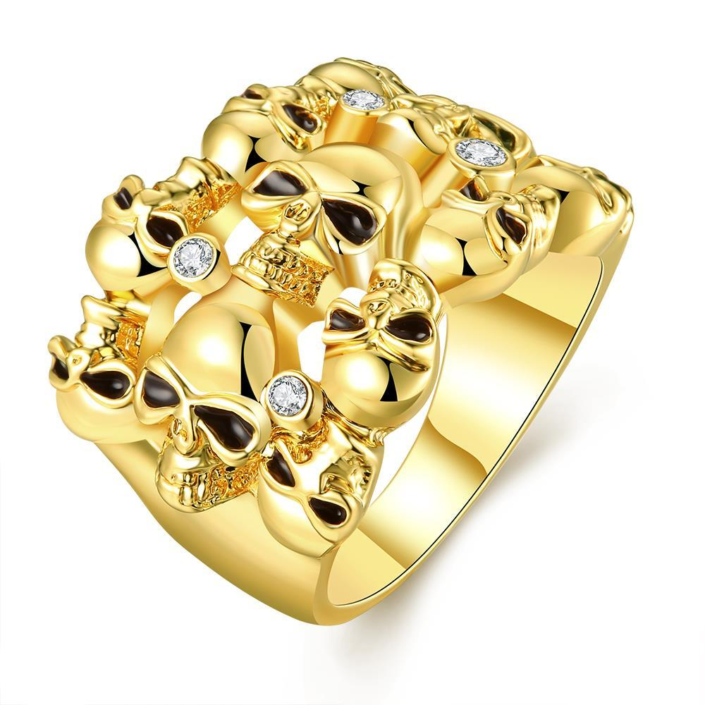 Vienna Jewelry Gold Plated Multi Floral Orchid Ring Size 8
