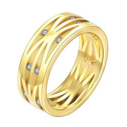 Vienna Jewelry Gold Plated Classical London Inspired Ring - Thumbnail 0