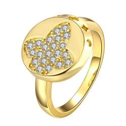 Vienna Jewelry Gold Plated Design Loop Sides Ring - Thumbnail 0