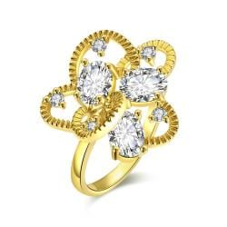 Vienna Jewelry Gold Plated Crafted Abstract Ring - Thumbnail 0