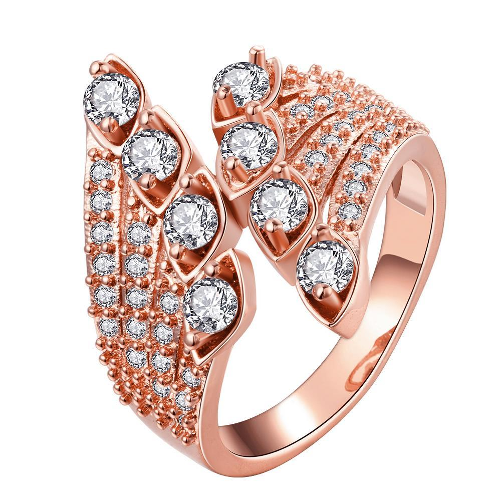 Vienna Jewelry Gold Plated Quad-Jewels Open Ended Ring
