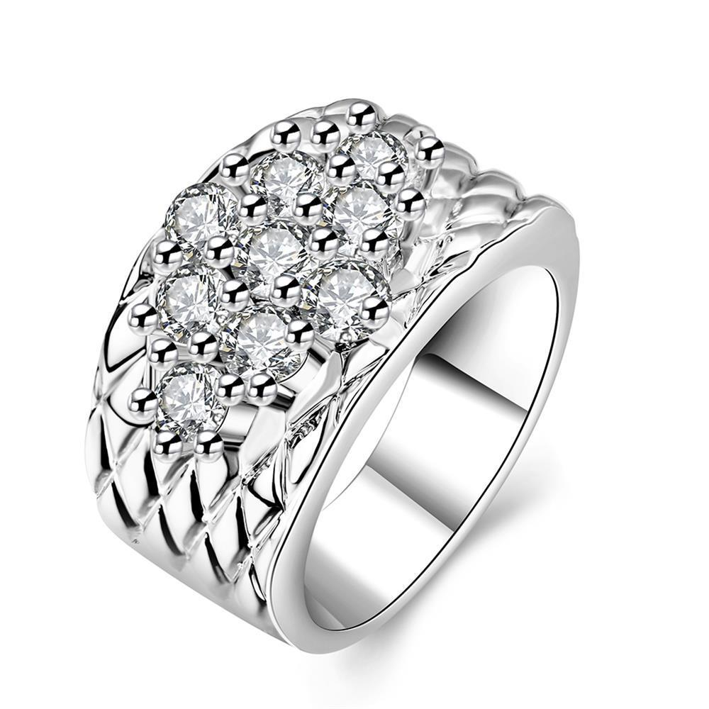 Vienna Jewelry White Gold Plated Classic Royalty Inspired Ring