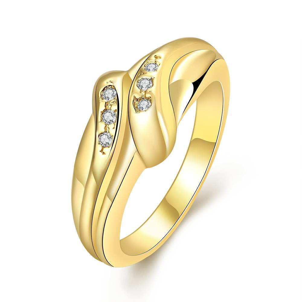 Vienna Jewelry Gold Plated Matrix Love Knot Ring