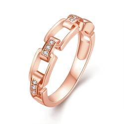 Vienna Jewelry Gold Plated Petite Links Ring - Thumbnail 0