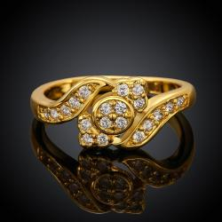 Vienna Jewelry Gold Plated Matrix New York Design Ring - Thumbnail 0