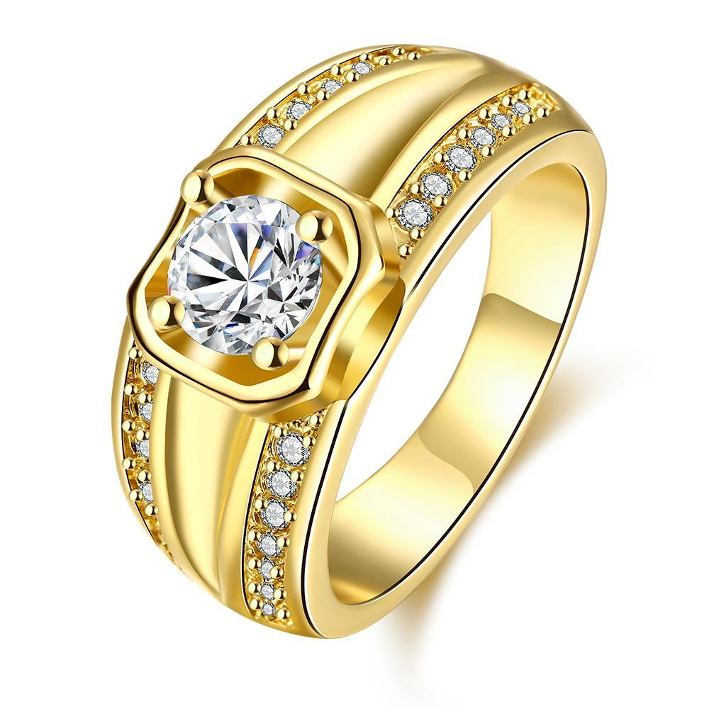 Vienna Jewelry Gold Plated Past Present Future Ring