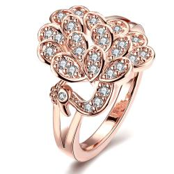Vienna Jewelry Gold Plated Floral Blossom Ring - Thumbnail 0