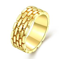 Vienna Jewelry Gold Plated Woven Layering Modern Ring - Thumbnail 0