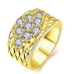 Vienna Jewelry Gold Plated Classic Royalty Inspired Ring - Thumbnail 0
