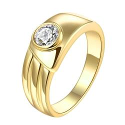 Vienna Jewelry Gold Plated Vintage Style Crystal Ring - Thumbnail 0