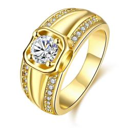 Vienna Jewelry Gold Plated Past Present Future Ring - Thumbnail 0