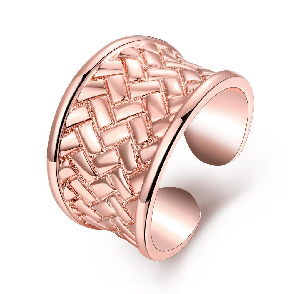 Vienna Jewelry Gold Plated Open Clasp Laser Cut Ring