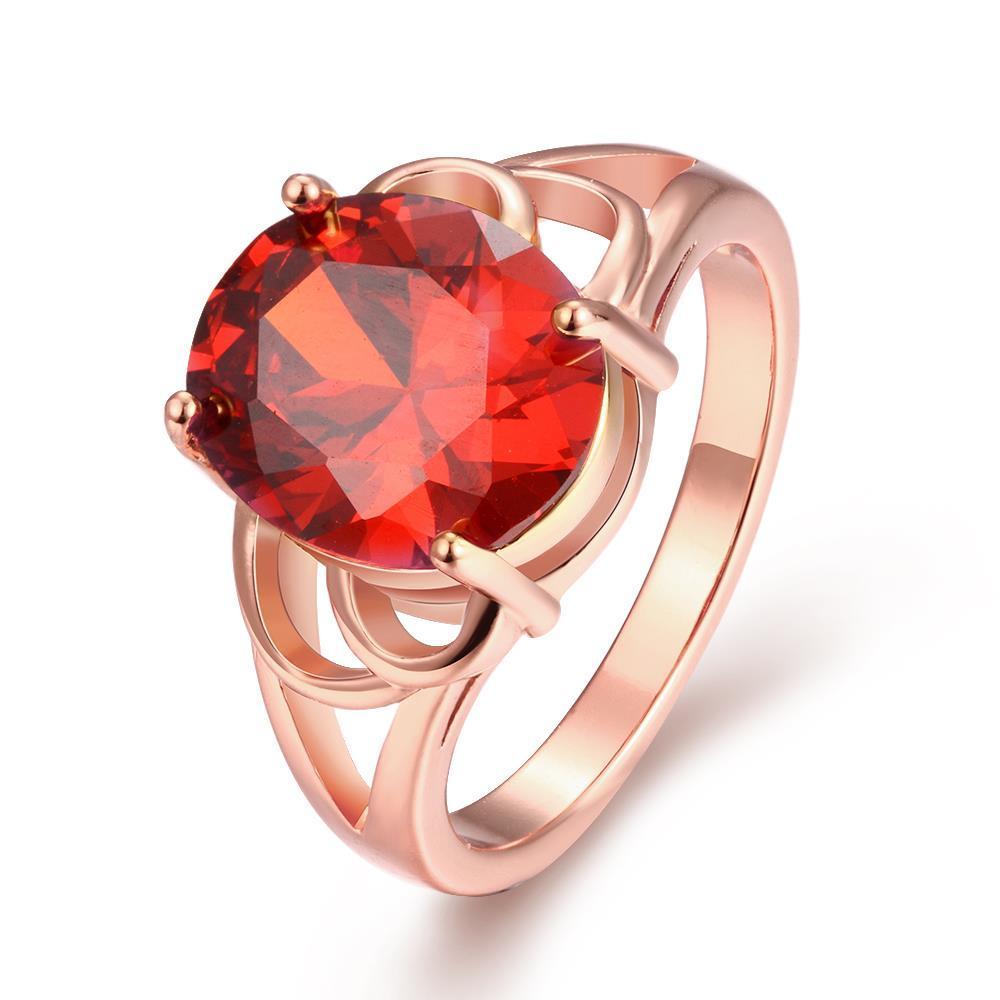 Vienna Jewelry Gold Plated London Inspired Gemstone Ring