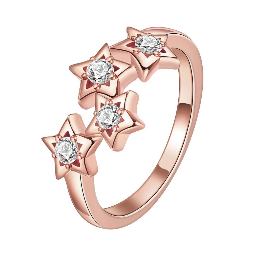 Vienna Jewelry Gold Plated Cluster Starts in the Sky Ring