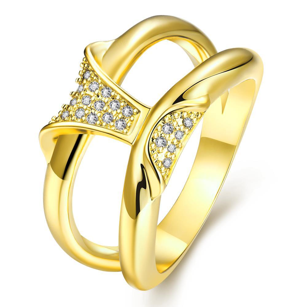 Vienna Jewelry Gold Plated Double Cut Wedding Ring