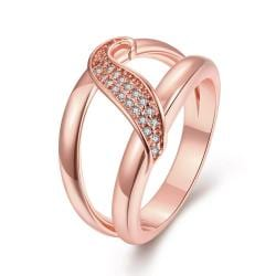 Vienna Jewelry Gold Plated Petite Swirl Ring - Thumbnail 0