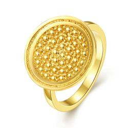 Vienna Jewelry Gold Plated Soft Metal Face Ring - Thumbnail 0