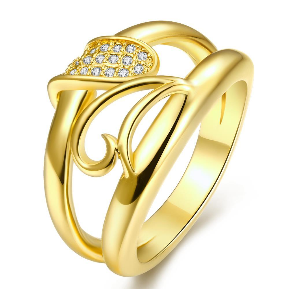 Vienna Jewelry Gold Plated Double-Stance Design Ring
