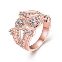 Vienna Jewelry Gold Plated Crystal Covering Design Ring - Thumbnail 0