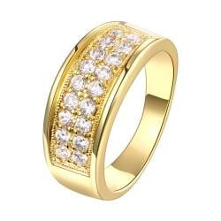 Vienna Jewelry Gold Plated Jewels Covering Band Ring - Thumbnail 0