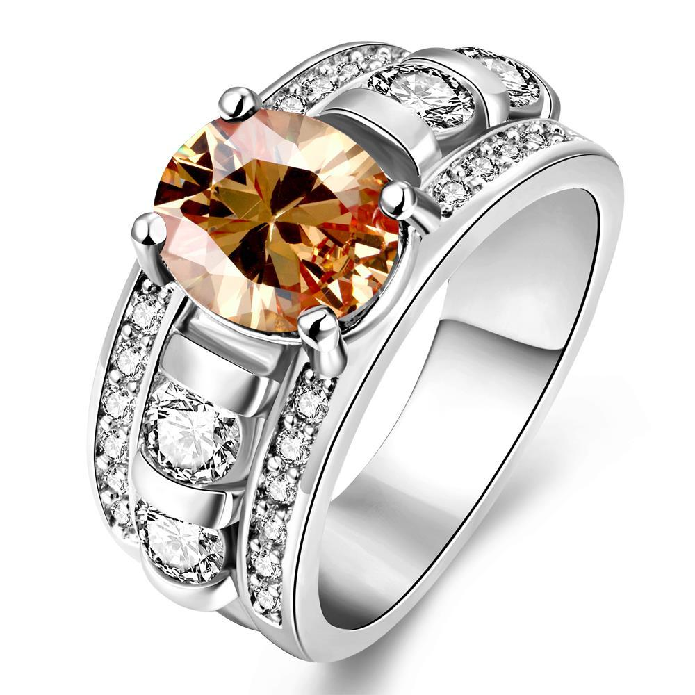 Vienna Jewelry Gold Plated A King's Crown Gemstone Ring