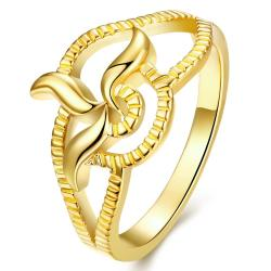 Vienna Jewelry Gold Plated Blossoming Floral Petal Ring - Thumbnail 0