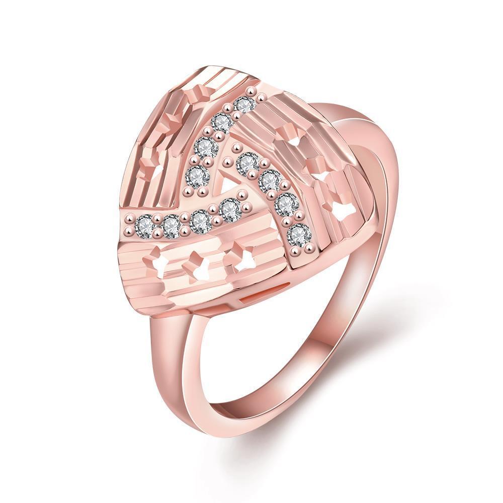 Vienna Jewelry Gold Plated Triangular Design Knot Ring