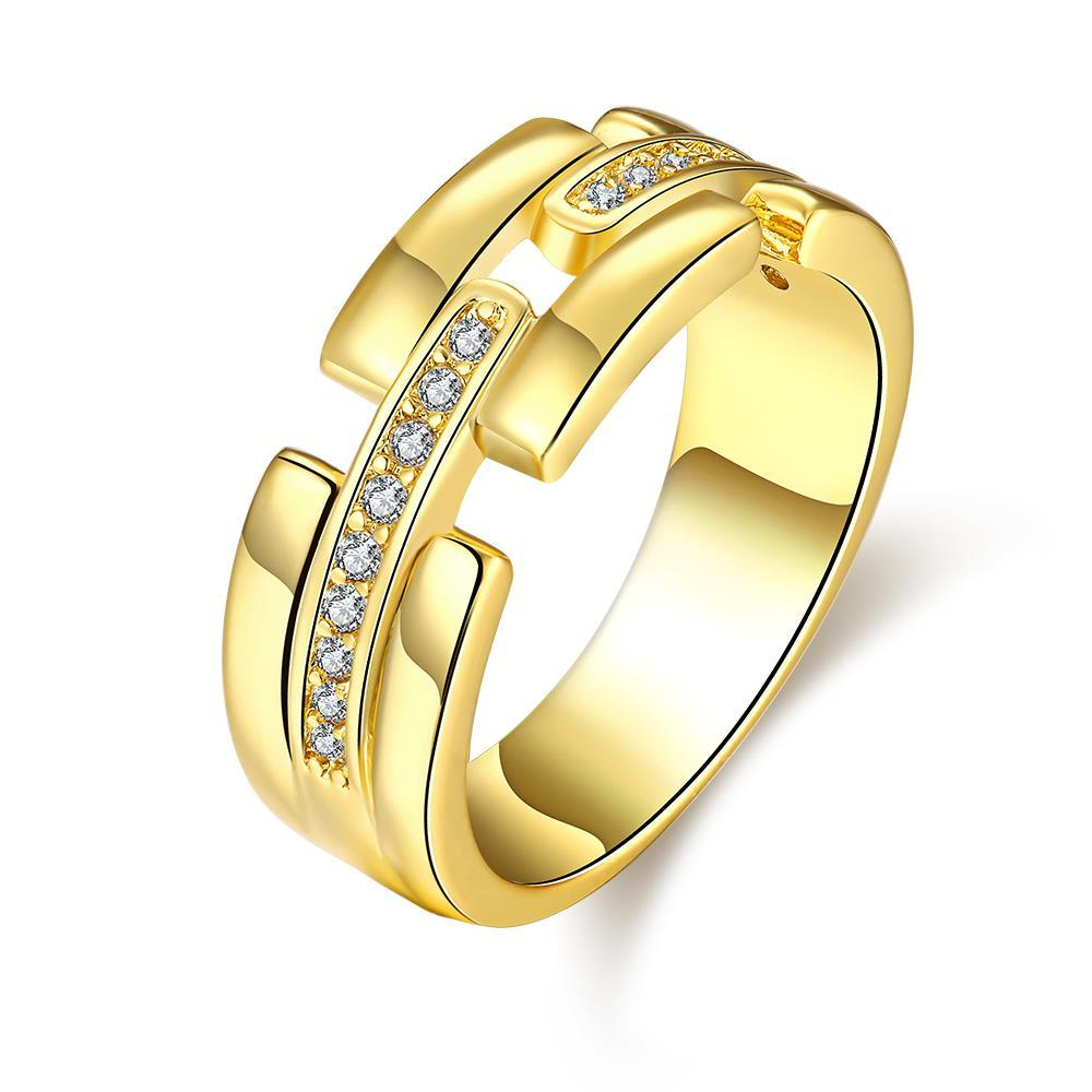 Vienna Jewelry Gold Plated Trio-Layered Jewels Covering Ring