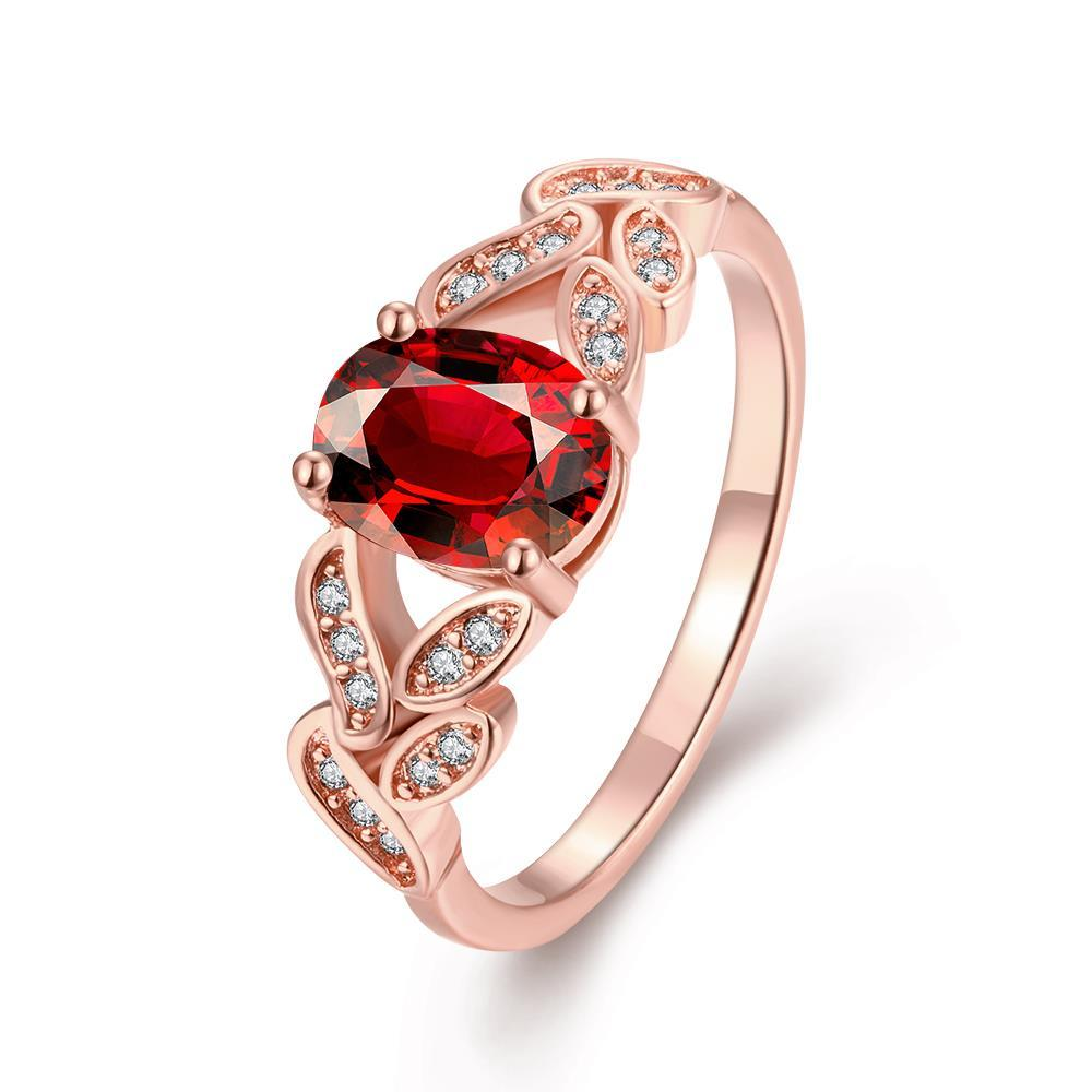 Vienna Jewelry Gold Plated Gemstone Twisted Mesh Ring