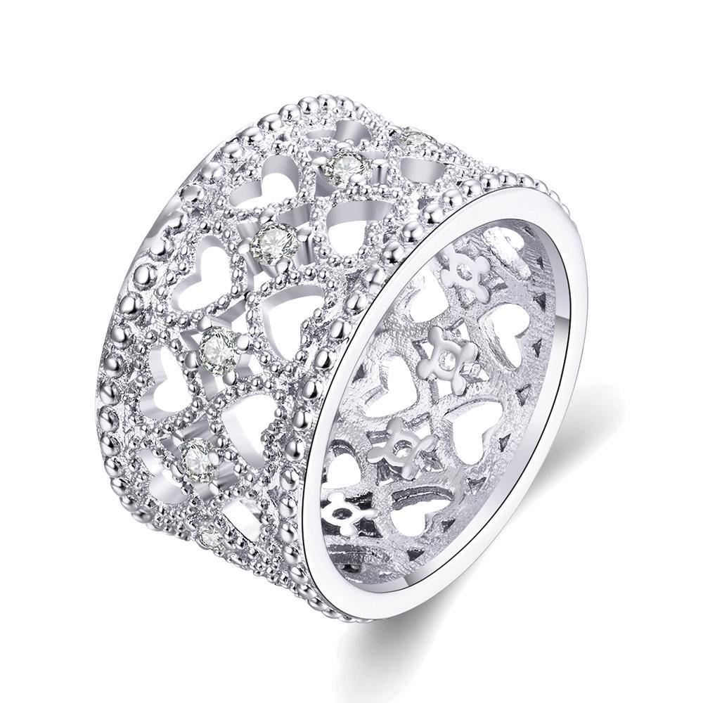 Vienna Jewelry Gold Plated Hollow Laser Cut Curved Ring