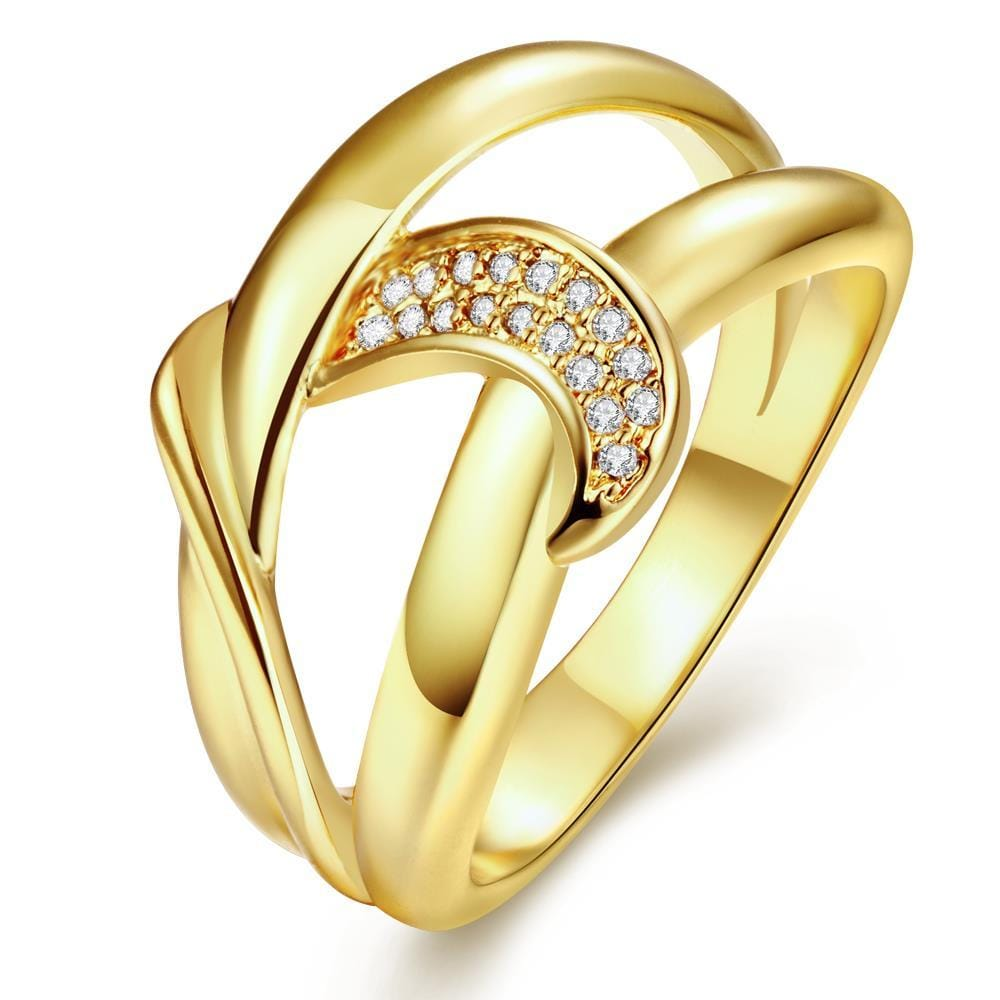 Vienna Jewelry Gold Plated Swirl Love Knot Ring