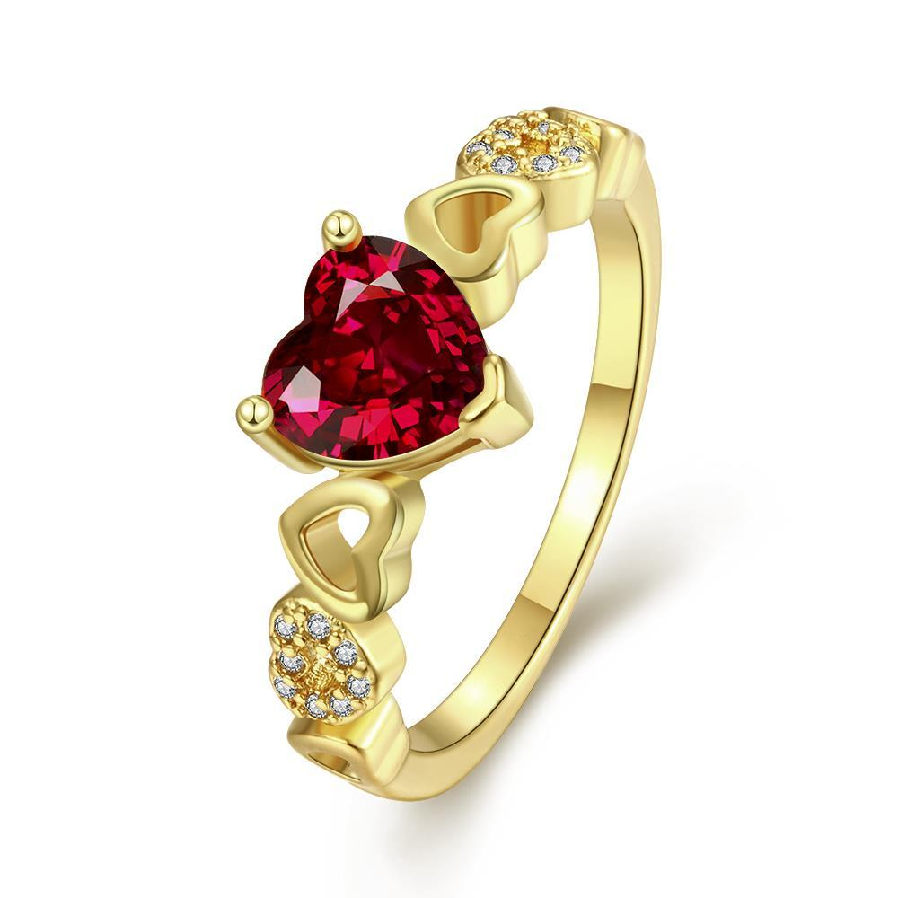 Vienna Jewelry Gold Plated Petite Love is Everywhere Ring