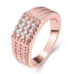 Vienna Jewelry Gold Plated Dotted Beads Crystal Ring - Thumbnail 0