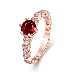 Vienna Jewelry Gold Plated Petite Ring with Gemstone - Thumbnail 0