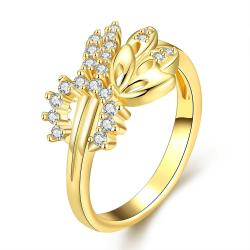 Vienna Jewelry Gold Plated Classical Love Ring - Thumbnail 0