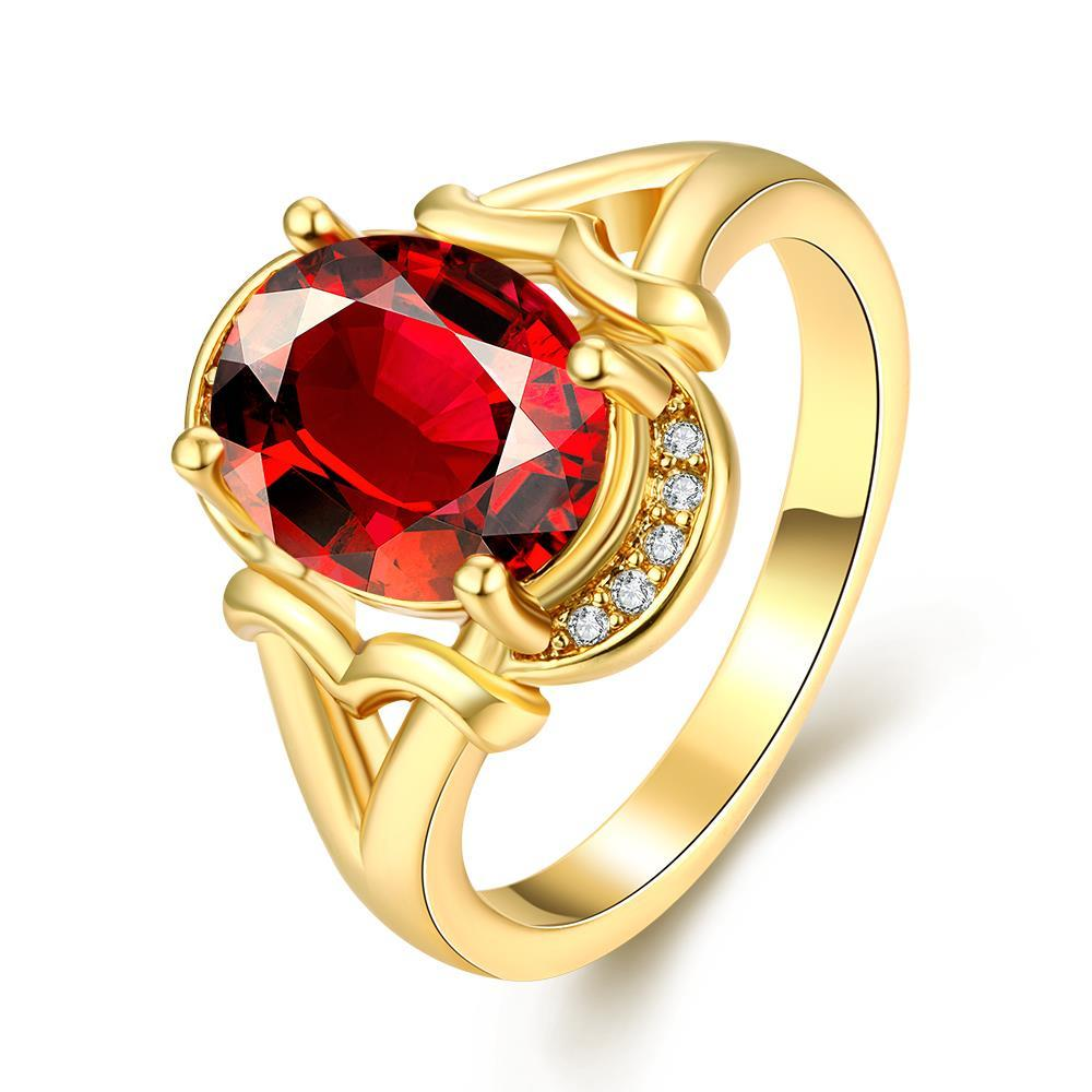 Vienna Jewelry Gold Plated Madison Ave Inspired Gemstone Ring