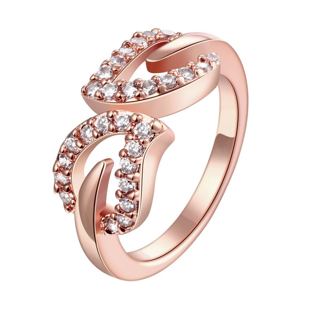 Vienna Jewelry Gold Plated Crystal Orbit Ring