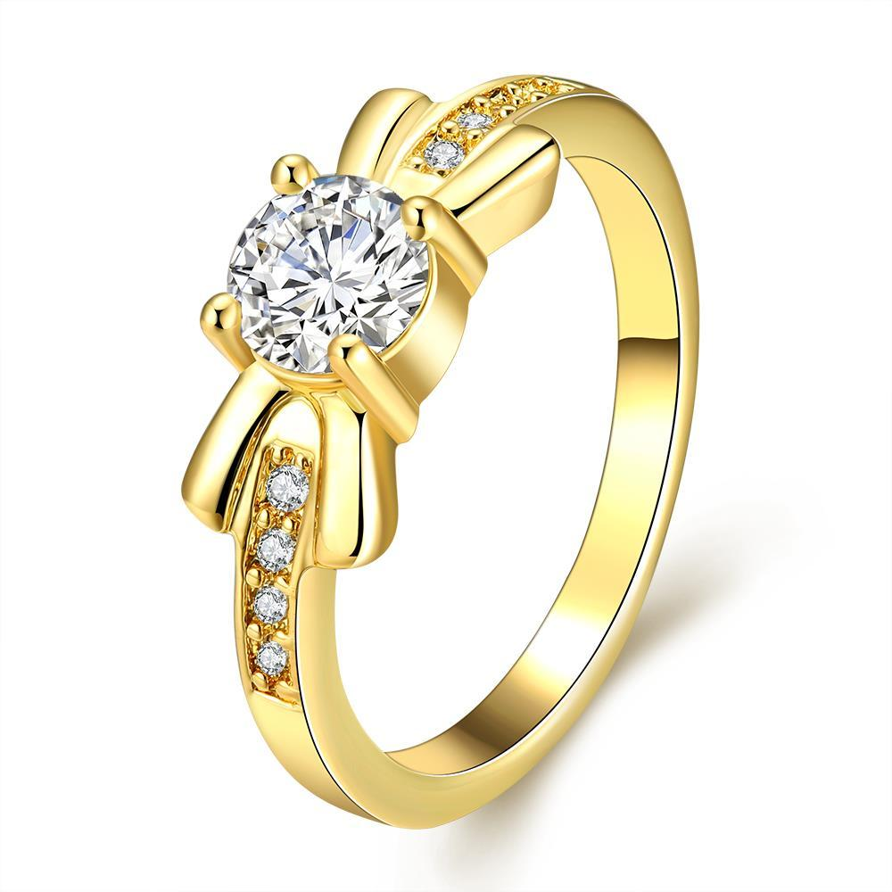 Vienna Jewelry Gold Plated Classical Wedding Ring from New York
