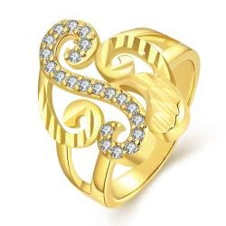 Vienna Jewelry Gold Plated Musical Design Inspired Ring - Thumbnail 0
