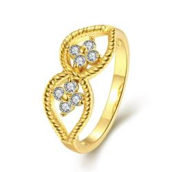 Vienna Jewelry Gold Plated Crystal Jewels Ring - Thumbnail 0