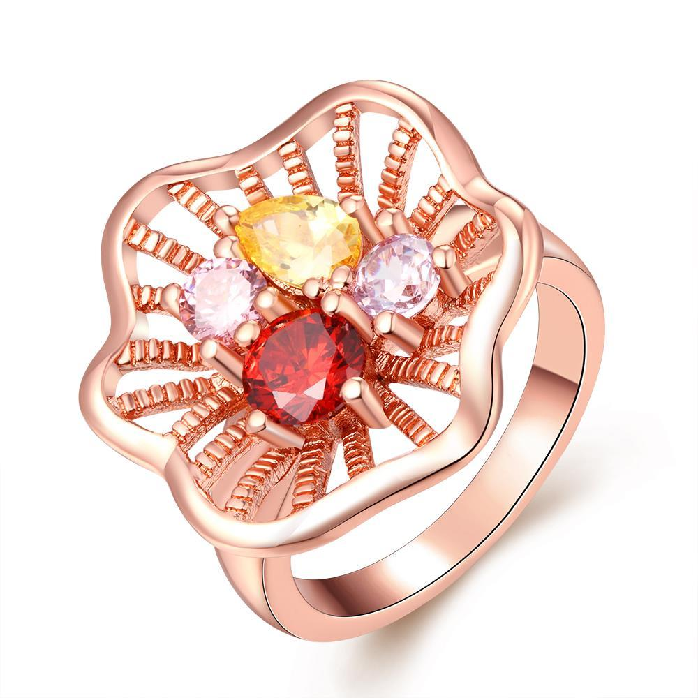 Vienna Jewelry Gold Plated Classical Gemstone Ring