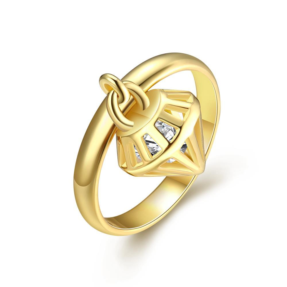 Vienna Jewelry Gold Plated Dangling Design Ring