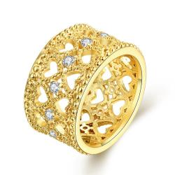 Vienna Jewelry Gold Plated Hollow Laser Cut Curved Ring - Thumbnail 0