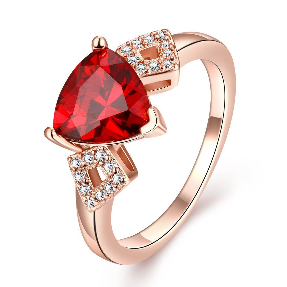 Vienna Jewelry Gold Plated Gemstone Knot Twist Ring