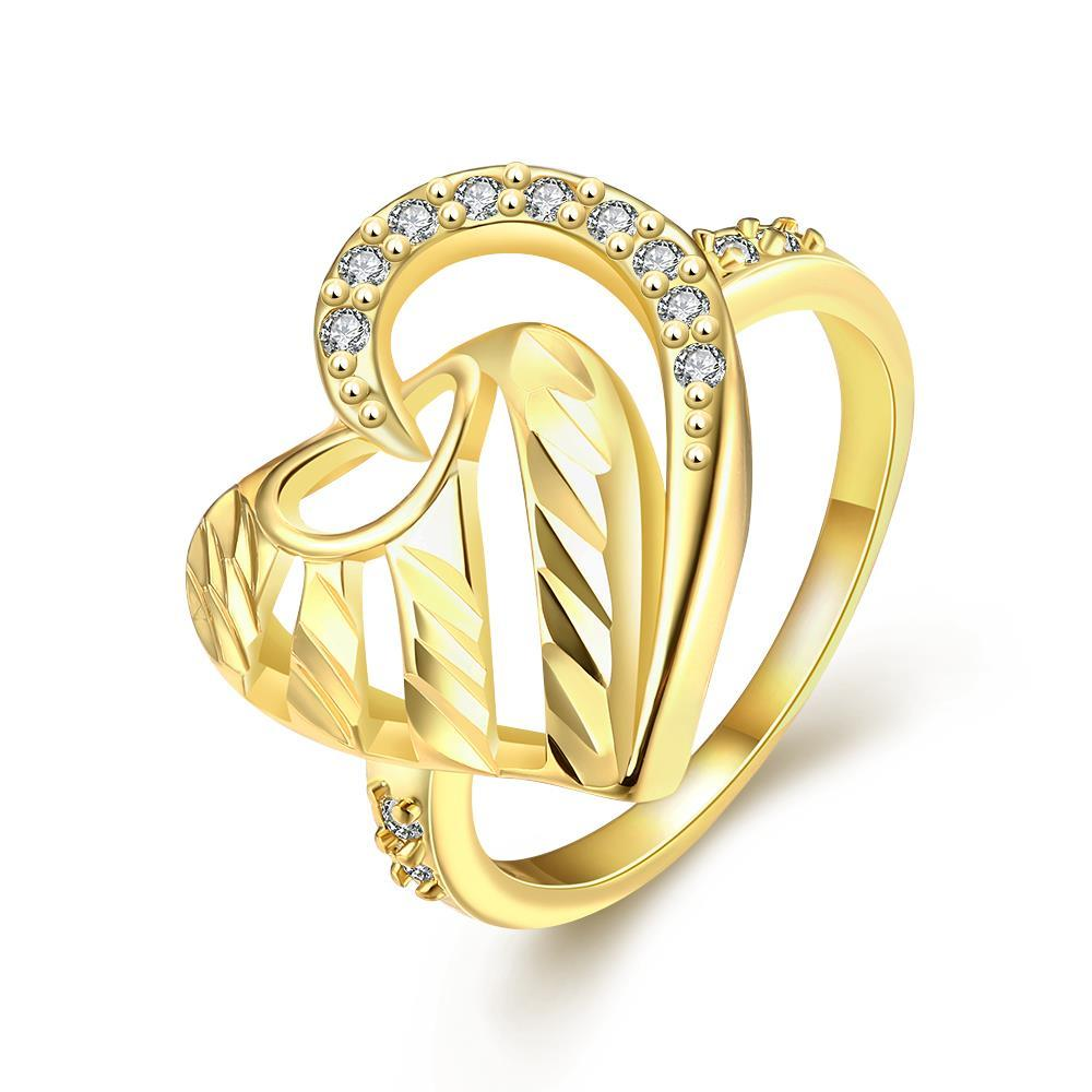 Vienna Jewelry Gold Plated Triangular Love Knot Ring