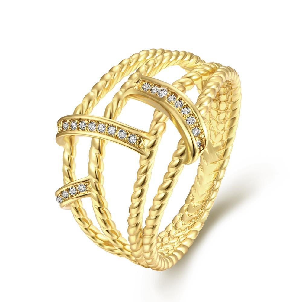 Vienna Jewelry Gold Plated Petite Linear Ring