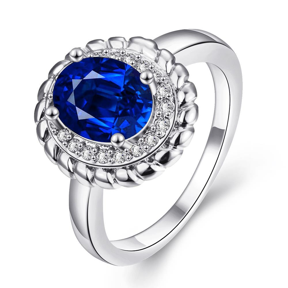 Vienna Jewelry Gold Plated Gemstone Center Blossoming Ring
