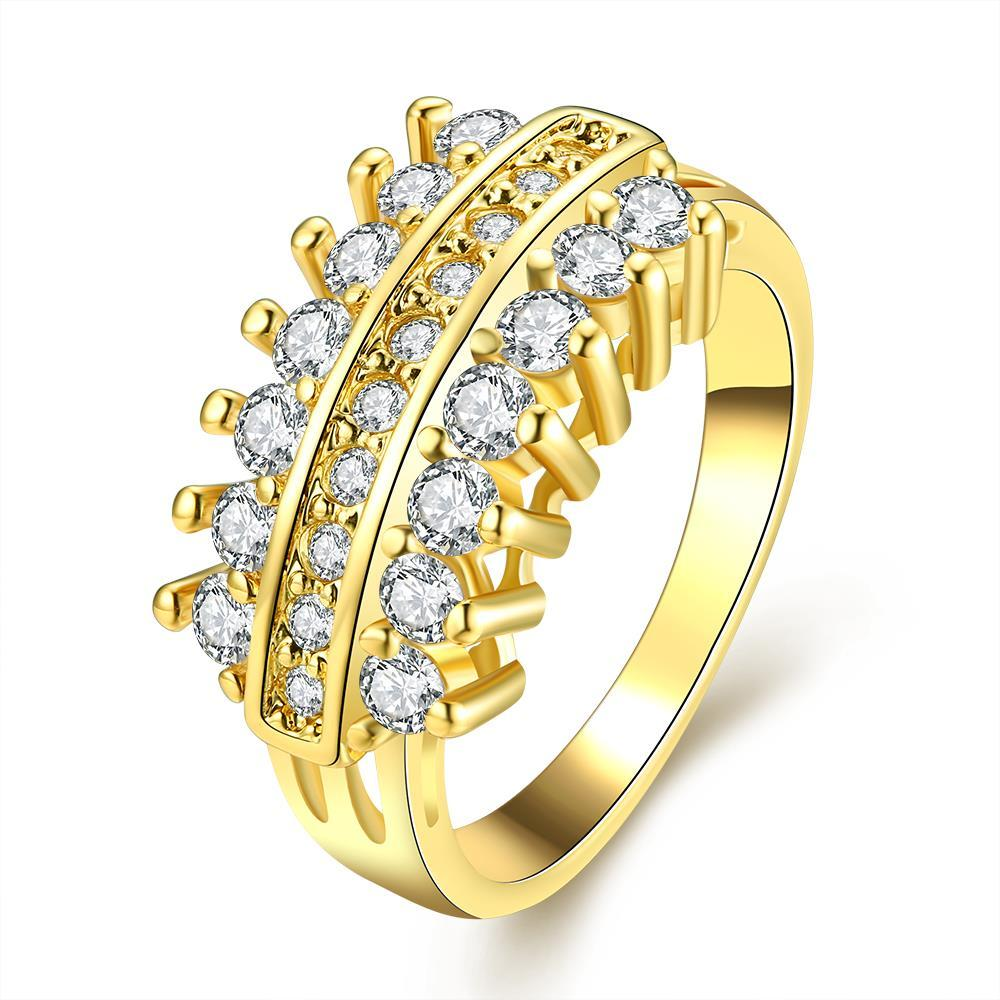 Vienna Jewelry Gold Plated Crystal Jewels Branch Ring