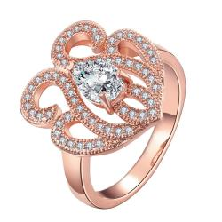Vienna Jewelry Gold Plated Infinity Shaped Ring - Thumbnail 0